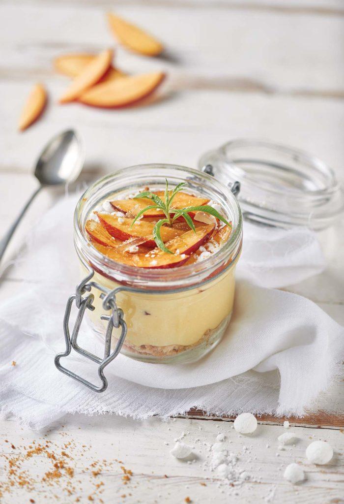 Nectarine dessert glasses