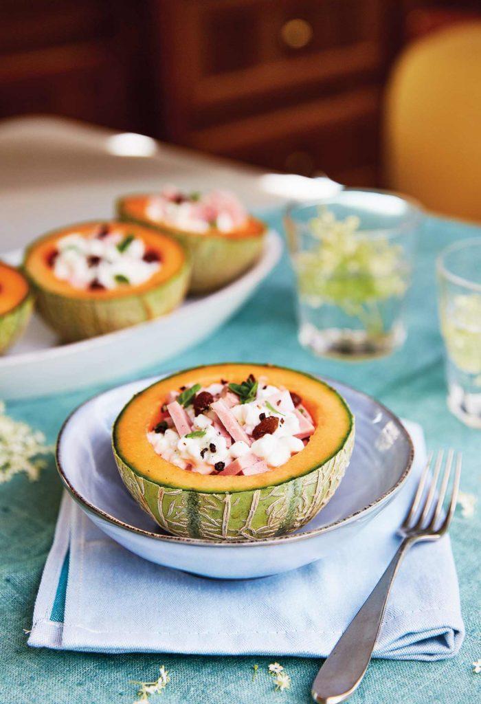 Melone con fiocchi di latte