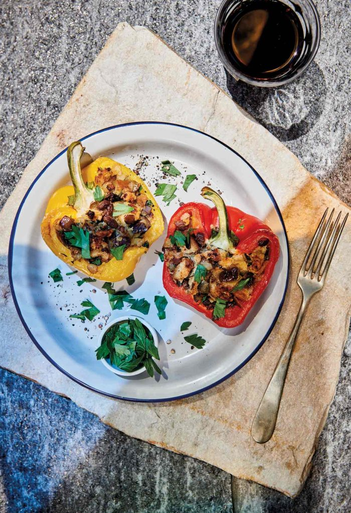 Neapolitan style stuffed peppers