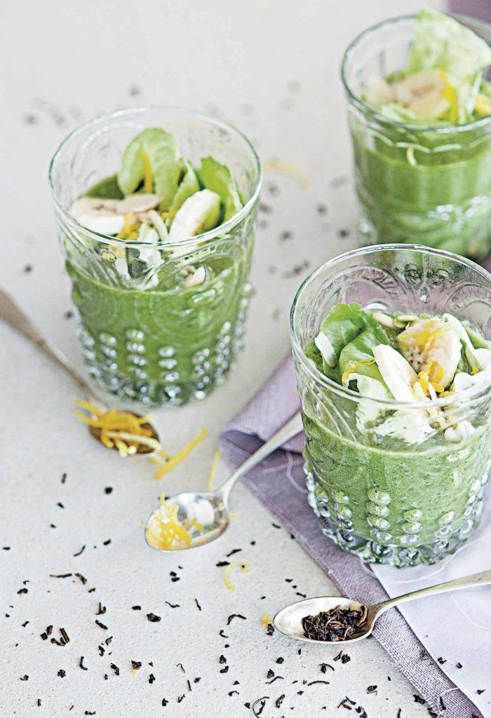Smoothie di lattuga e banana al thè verde